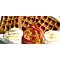 Fluffy Caramel Pumpkin Waffles