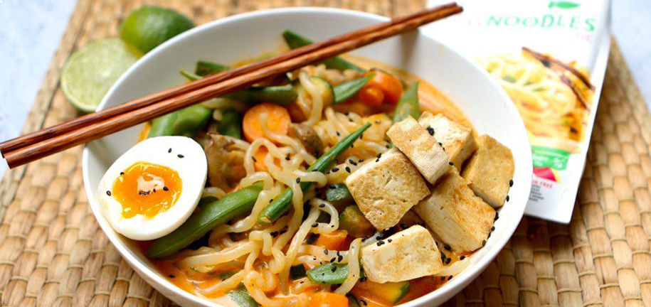 Vegetarian Red Curry Noodles with our RawNoodles