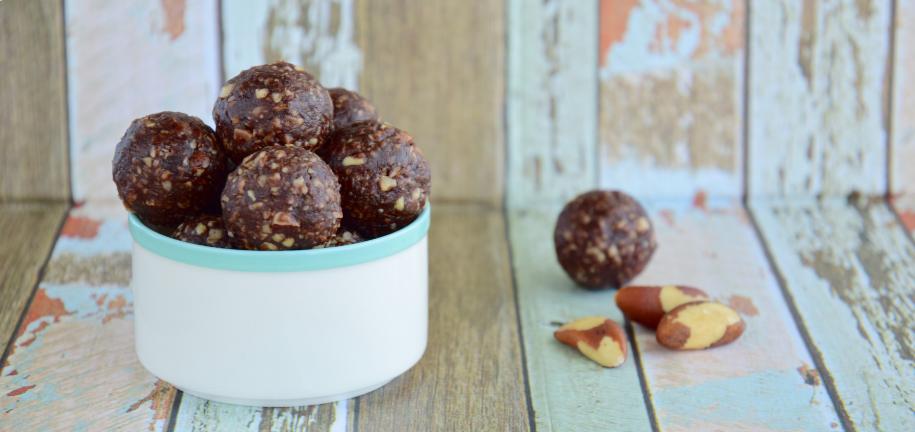 Chocolate No Bake Protein Balls