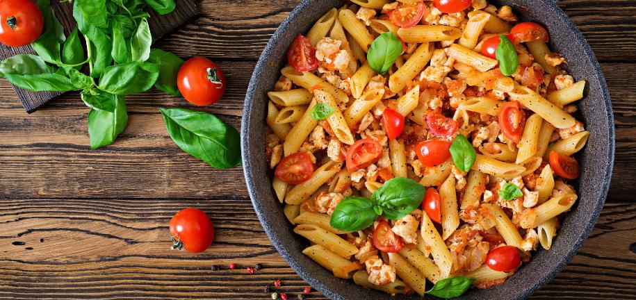 Skinny Protein Chicken Pasta